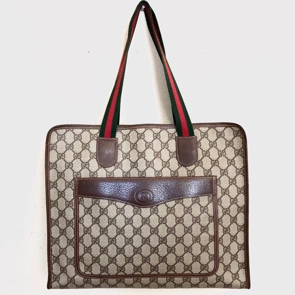 0f1e9f015cdf49 Gucci Bags | Vintage Gg Supreme Tote Bag | Poshmark